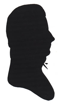 Silhouette of Captain Benjamin Vanderford (1788-1842). Courtesy Essex Institute, Salem, Mass.